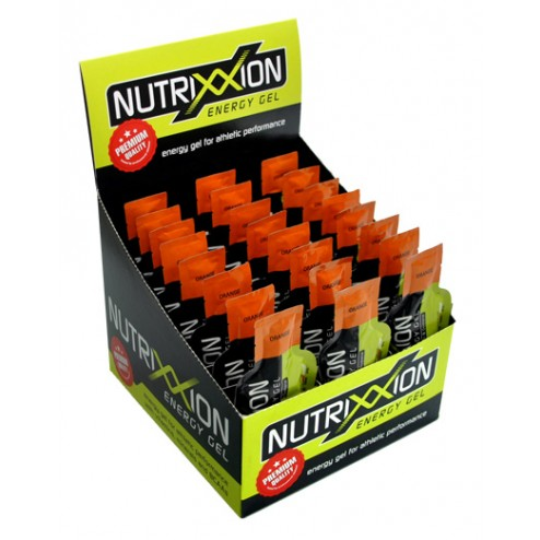 Box Nutrixxion Energie Gel Orange mit Koffein